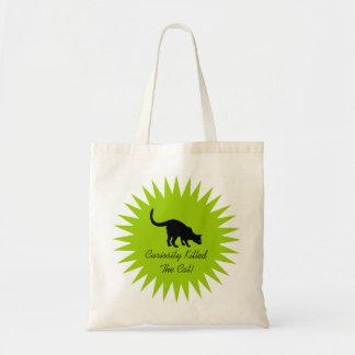 Black Cat Budget Tote Bag