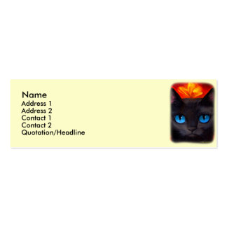 Black Cat Butterfly Painting Art - Multi Business Cards