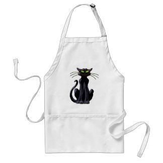 BLACK CAT by SHARON SHARPE Aprons