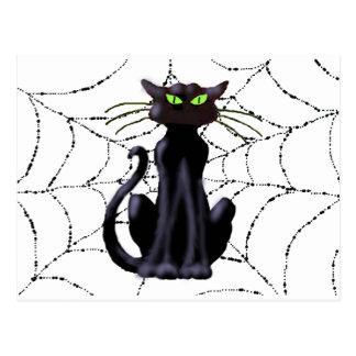 BLACK CAT by SHARON SHARPE Postcard