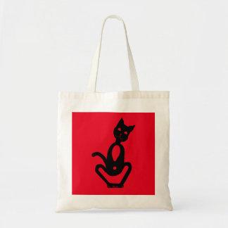 BLACK CAT by Slipperywindow Budget Tote Bag