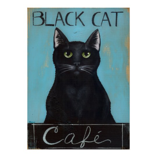 Black Cat Cafe Sign