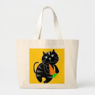Black Cat Carrot Bag