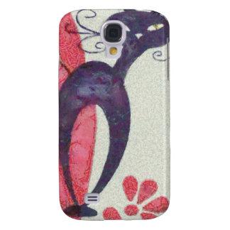 Black cat samsung galaxy s4 case