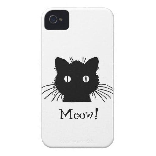 Black Cat iPhone 4 Cover