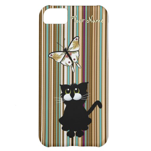 Black Cat Case for Top 8 Phones Cover For iPhone 5C