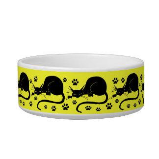 Black Cat  Cats Dish Pet Food Bowls