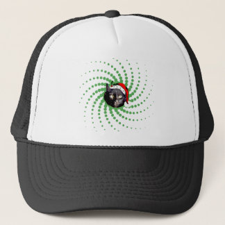 Black Cat Christmas Trucker Hat