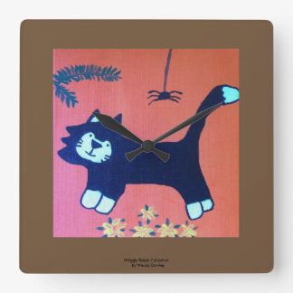 Black Cat Clock by Wriggly Ralph