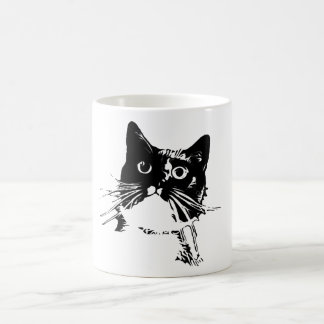 Black Cat Club Mug-Junior Coffee Mug