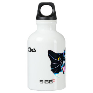 Black Cat Club Water Bottle