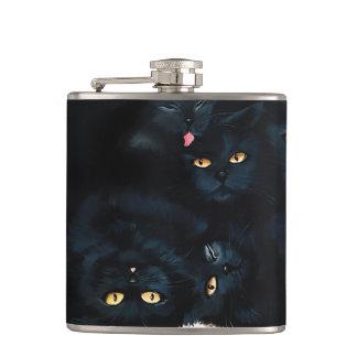 Black Cat Cuddle Hip Flask