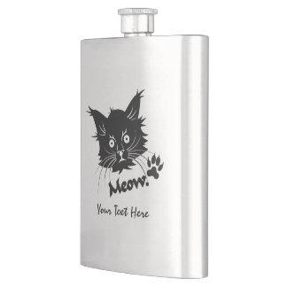 Black Cat custom flask