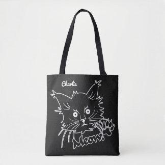 Black Cat custom name bags Tote Bag