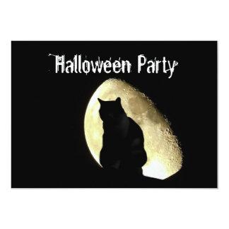 Black cat customisable Halloween party invitation
