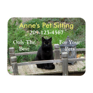 Black Cat Customizable Business Magnet