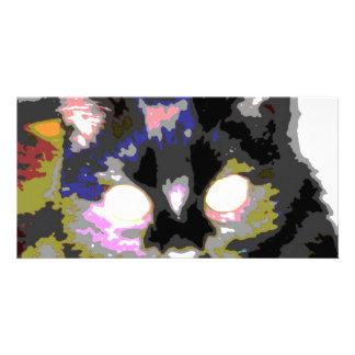 Black Cat Customized Photo Card