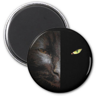 Black Cat Dark and Darker Side Magnet