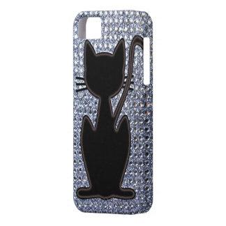 black cat diamond studs iPhone 5 case