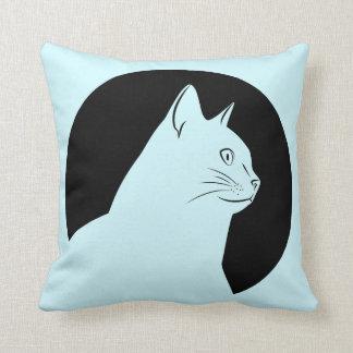 Black cat drawing both side cushion