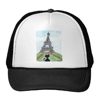 BLACK CAT EIFFEL TOWER CAP