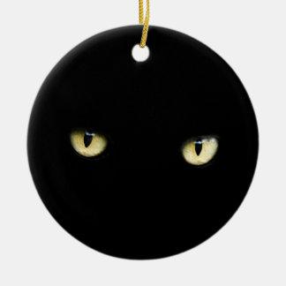 Black Cat Eyes | Cat Eye Macro Ceramic Ornament