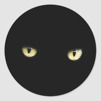 Black Cat Eyes | Cat Eye Macro Classic Round Sticker
