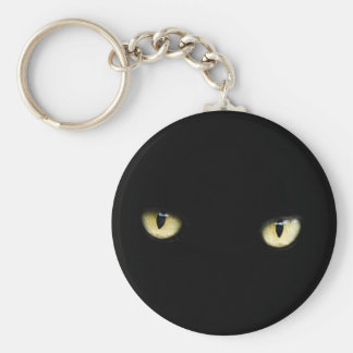 Black Cat Eyes | Cat Eye Macro Key Ring