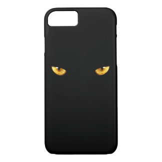 Black cat eyes iPhone 7 case