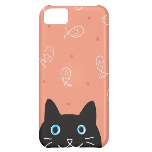 Black Cat & Fish iPhone Case iPhone 5C Covers