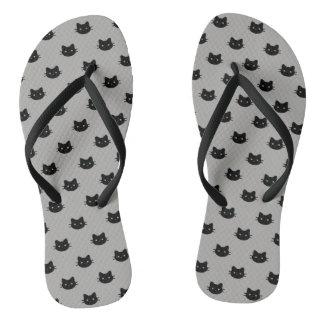 Black Cat Flip Flops