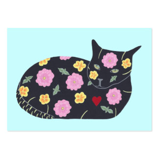 Black Cat Flowers Plants Cats Can Eat Bus. Cards Pack Of Chubby Business Cards