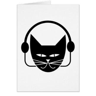 Black Cat FM Blank Greeting Card