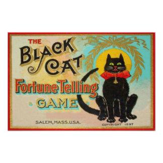 Black Cat Fortune Telling Game Art Photo