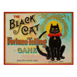 Black Cat Fortune Telling Game Postcard