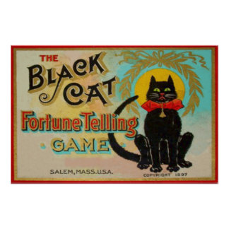 Black Cat Fortune Telling Game Poster