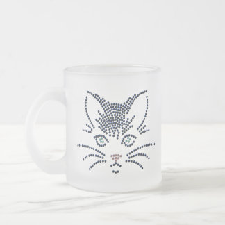 Black Cat Frosted Mug