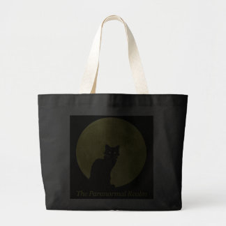 Black Cat & Full Moon | Jumbo Tote Canvas Bags