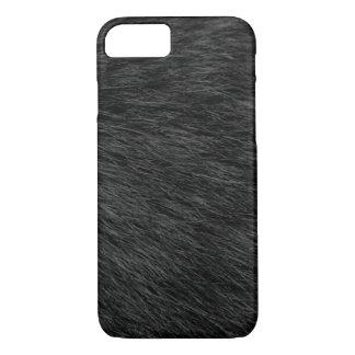 BLACK CAT FUR iPhone 7 CASE