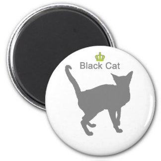 Black Cat g5 6 Cm Round Magnet