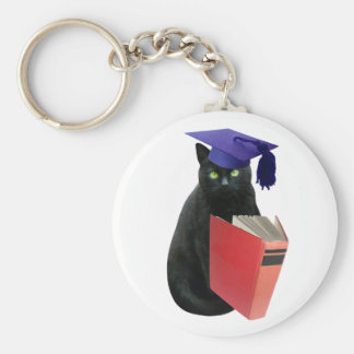 Black Cat Grad Key Ring