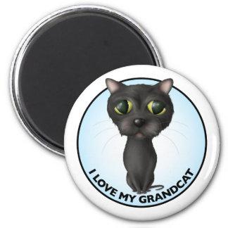 Black Cat - Grandcat 6 Cm Round Magnet
