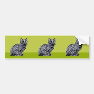Black Cat green cutout Sticker Car Bumper Sticker