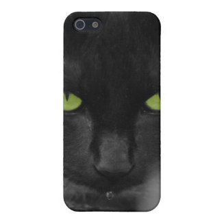 Black Cat Green Eyes Iphone Case Cover For iPhone 5/5S
