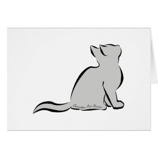 Black cat, grey fill, inside text card
