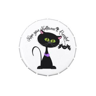 Black Cat Halloween Candy Tin