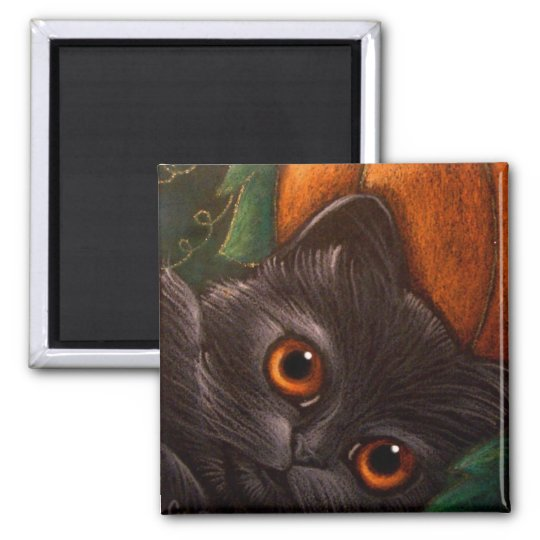 BLACK CAT HALLOWEEN Magnet