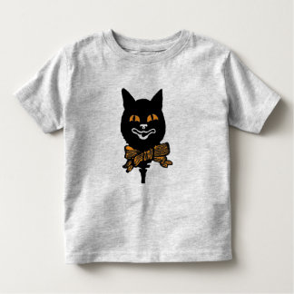 Black Cat Halloween Toddler T-Shirt