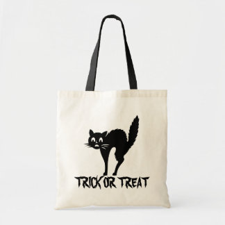 Black Cat Halloween Trick Or Treat Candy Bag