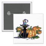 BLACK CAT, HAT & JACK by SHARON SHARPE Pins